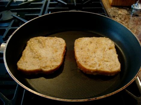 In the frying pan.