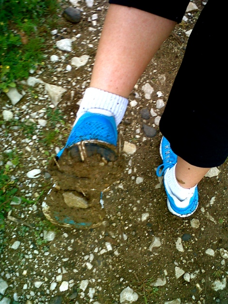 Sometimes things don't go as planned...I got a little lost and a lot muddy!