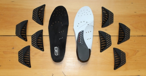 What's in the box: Two insoles, four different arch heights to pick from.