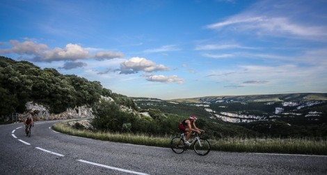 Bike course, next to the Gorge of Ardeche.