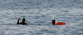 5km swim.