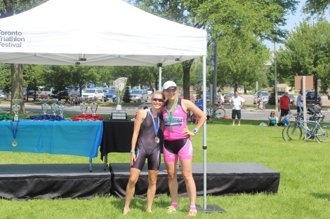 A little bit of consolation at the Age Group Awards: Me and Katie Ozolins (Third Place)