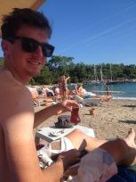Tea on the beach.
