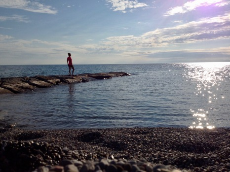 Grimbsy on the shore of Lake Ontario