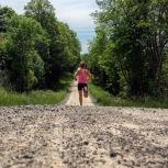 Rural roads are like big trails.